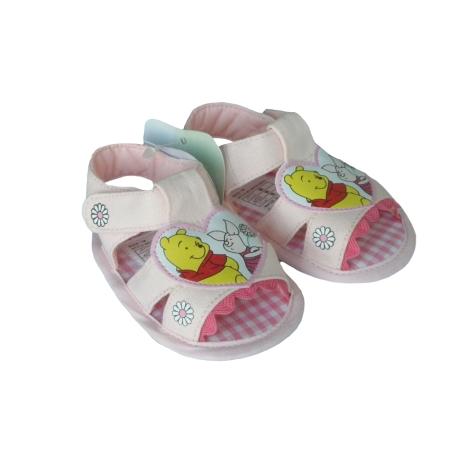 GRAZIELLA Sandále Pooh s kytičkami světle růžová