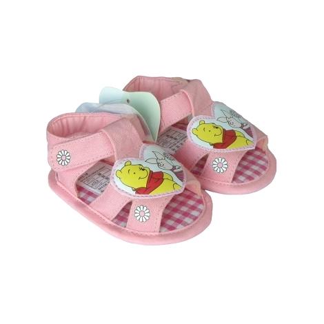 GRAZIELLA Sandále Pooh s kytičkami tmavě růžová 17
