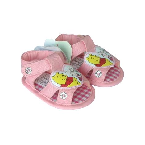 GRAZIELLA Sandále Pooh s kytičkami tmavě růžová