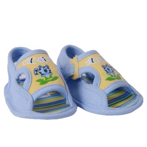 GRAZIELLA Sandále s tygříkem světle modrá