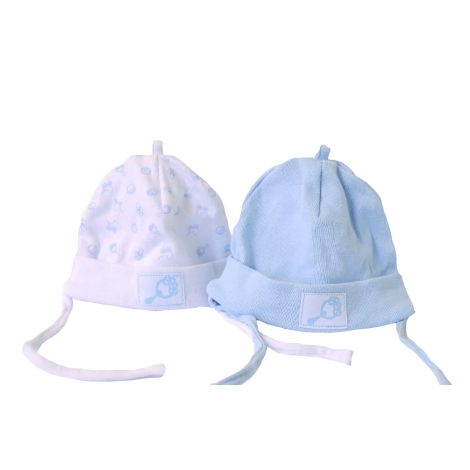 GRAZIELLA Set 2 čepiček bílá/modrá