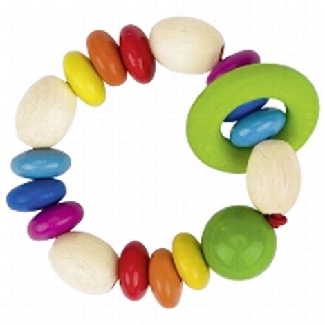 HEIMESS Dřevěný kroužek barevný Duha