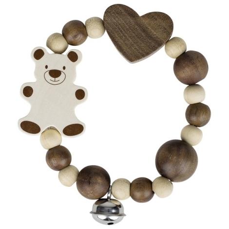 HEIMESS Dřevěný kroužek s medvědem