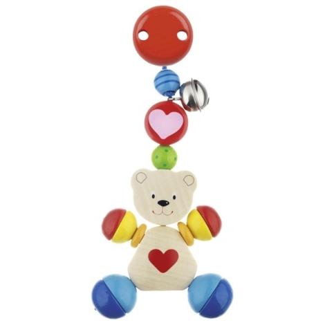 HEIMESS Závěsná hračka dřevěná s rolničkou Medvídek
