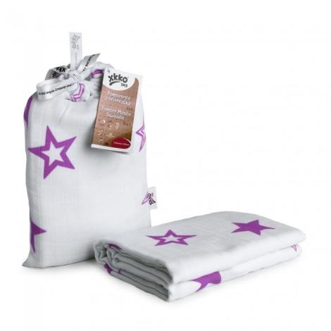 KIKKO BMB zavinovačka Lilac Stars 120 x 120cm