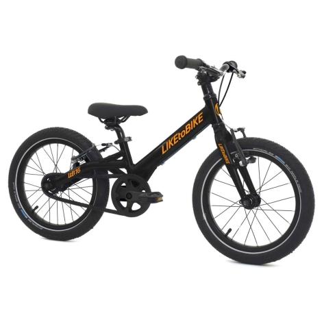 KOKUA Like to Bike 16´ SRAM Automatix SE černo-oranžová, V-brakes