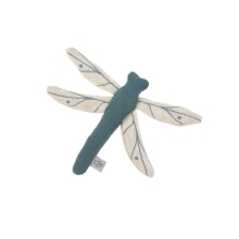 LÄSSIG Knitted Toy with Rattle/Crackle Garden Explorer Dragonfly Blue