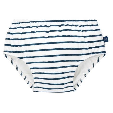 LÄSSIG Swim Diaper Boys Stripes Navy 18 měsíců