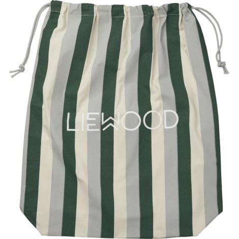 LIEWOOD Dust Bag Látkový Sáček Big Stripe Garden Green/Sandy/Dove Blue
