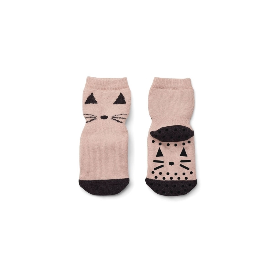 LIEWOOD Froté ponožky s protiskluzem Cat Rose  f0251a272f