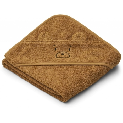 LIEWOOD Kojenecká osuška s kapucí Mr. Bear Golden Caramel
