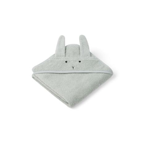 LIEWOOD Kojenecká osuška s kapucí Rabbit Dusty Mint
