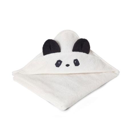 LIEWOOD Osuška s kapucí Panda Creme de la Creme