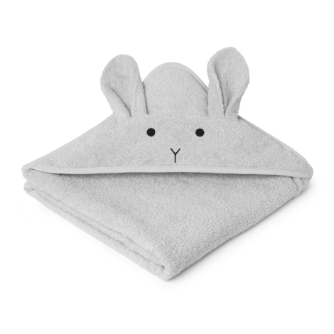LIEWOOD Osuška s kapucí Rabbit Dumbo Grey