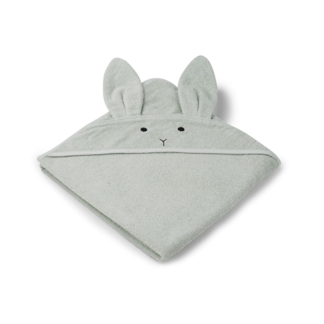 LIEWOOD Osuška s kapucí Rabbit Dusty Mint