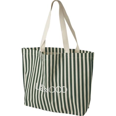 LIEWOOD Velká bavlněná taška Stripe Garden Green/Sandy