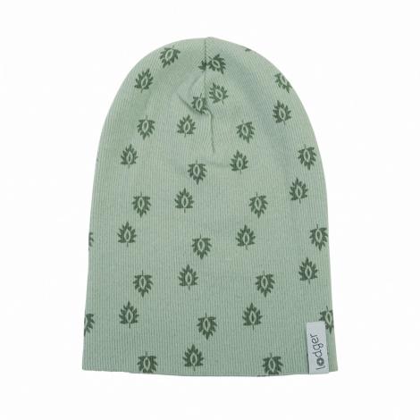 LODGER Beanie Print Rib Silt Green