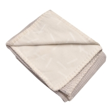 LODGER Dreamer Flannel/Honeycomb Ivory 110x140 cm
