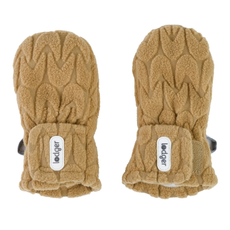 LODGER Mittens Empire Fleece Dark Honey 6 - 12 měsíců