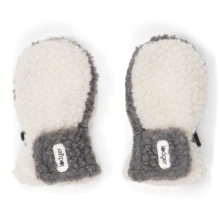 LODGER Mittens Teddy Off White