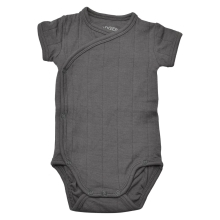 LODGER Romper Fold Over Solid Carbon