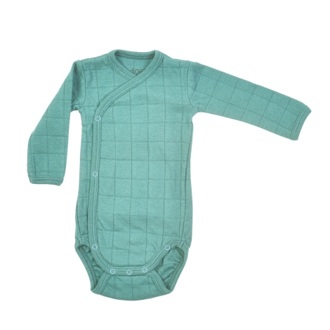 LODGER Romper Solid Long Sleeves Dusty Turquoise