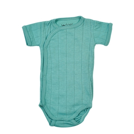 LODGER Romper Solid Short Sleeves Dusty Turqouise