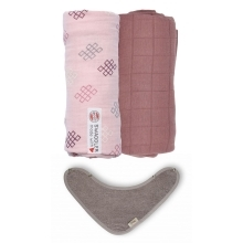LODGER Swaddler 2 ks + TIMBOO Bandana Bib Sensitive/Plush