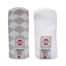 LODGER Swaddler balení 2ks Shell/White