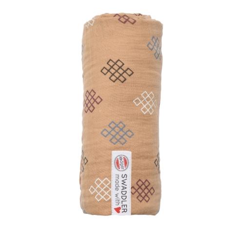 LODGER Swaddler Muslin Knot Xandu 120 x 120 cm Honey
