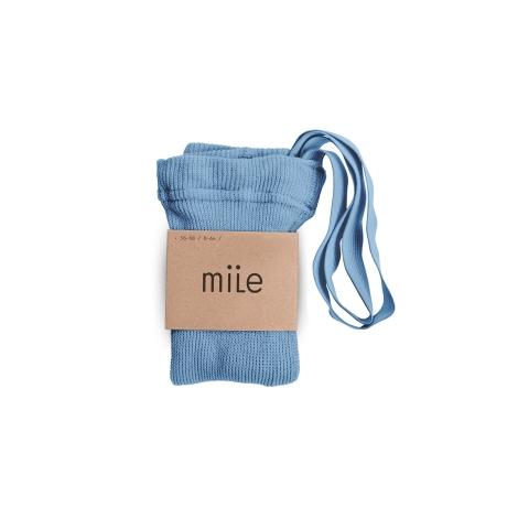 MILE Punčochy s kšandami modré