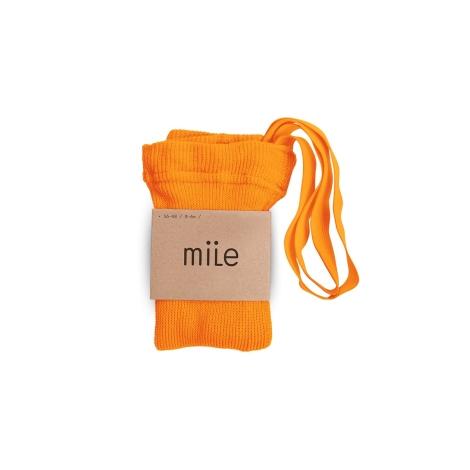 MILE Punčochy s kšandami oranžové