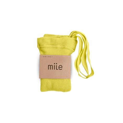 MILE Punčochy s kšandami žluté