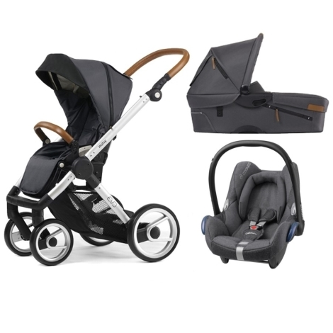 MUTSY Evo Urban Nomad Standard/Dark Grey + Maxi Cosi Cabriofix Sparkling Grey