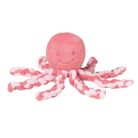 NATTOU První hračka chobotnička PIU PIU Lapidou Pink Coral 0 m+