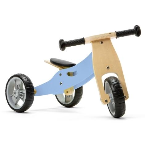 NICKO Dřevěné odrážedlo 2v1 mini Modré