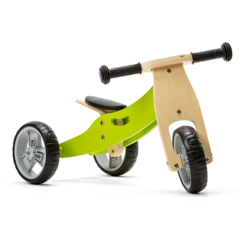 NICKO Dřevěné odrážedlo 2v1 mini Zelené