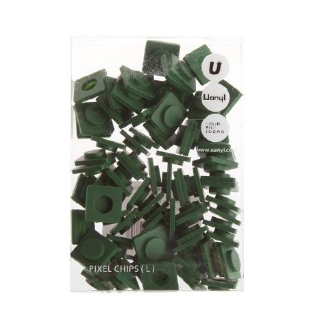 PIXELBAGS Velké pixely tmavě zelené
