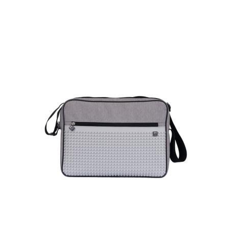 PIXIE CREW Taška přes rameno Classic Messenger šedá/šedá