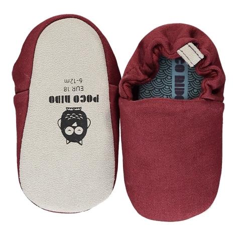 POCO NIDO Capáčky Mini Shoes Brick Red 6-12 měsíců