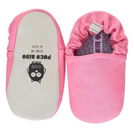 POCO NIDO Capáčky Mini Shoes Bubblegum Pink 6-12 měsíců
