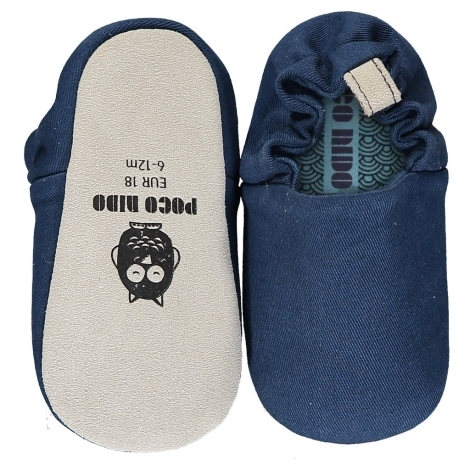POCO NIDO Capáčky Mini Shoes French Navy 12-18 měsíců