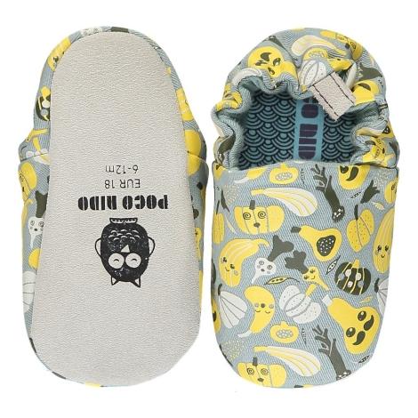 POCO NIDO Capáčky Mini Shoes Harvest Grey 12-18 měsíců