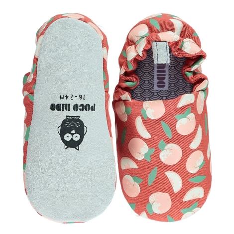 POCO NIDO Capáčky Mini Shoes Peaches 12-18 měsíců