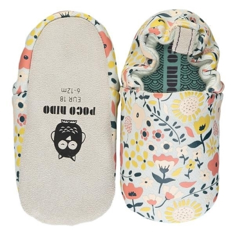 POCO NIDO Capáčky Mini Shoes Wildflowers Chalk 18-24 měsíců