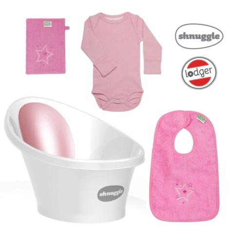 SHNUGGLE + LODGER Výhodný set růžová
