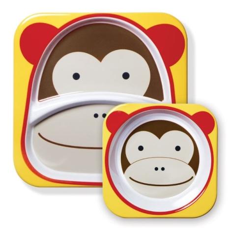 SKIPHOP Zoo Jídelní set Opička