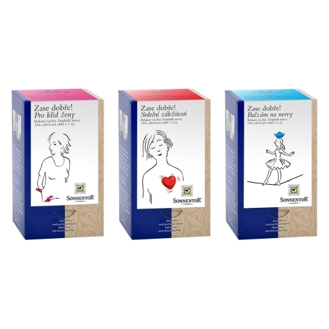 SONNENTOR Sada porcovaných bio čajů Zase dobře Pro ženy 3 x 27 g