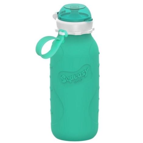 SQUEASY GEAR Silikonová lahev 480 ml aqua