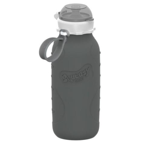 SQUEASY GEAR Silikonová lahev 480 ml šedá